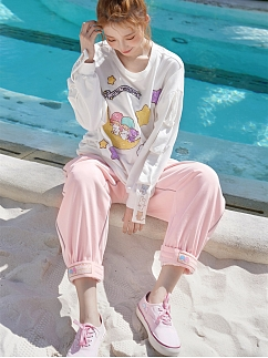 Sanrio Authorized Little Twin Stars Sweatpants by Dear Chestunt
