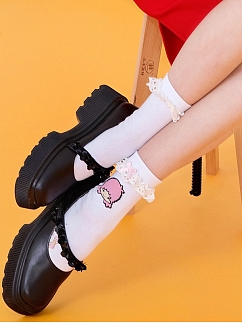 Sanrio Authorized Little Twin Stars Lace Trim Socks by Dear Chestunt