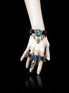 Handmade Gothic Lolita Fettered Butterfly Ring by Dominum Gloria