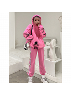 Bad Teddy Y2K Pink Sweatpants by Diamond Honey