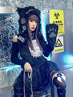 Cursed Teddy Set Open Shoulder Top / Organza Skirt by Diamond Honey