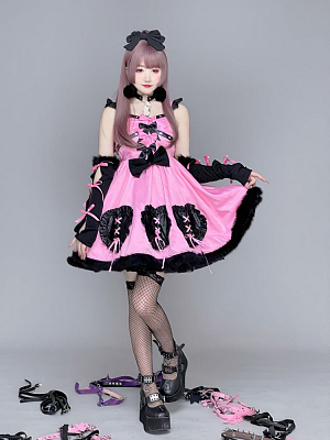Taboo Doll Love and Possessive Sweetheart Neckline Dress JSK by Diamond Honey