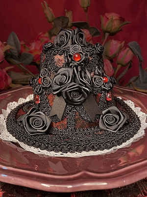 Moon Night Handmade Lolita Gothic Cake Hat by Darkmoon