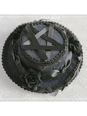 Moon Night Handmade Lolita Gothic Small Top Hat by Darkmoon