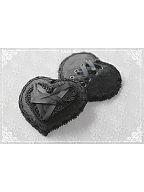 Moon Night Handmade Lolita Gothic Heart-shaped Hairclip by Darkmoon