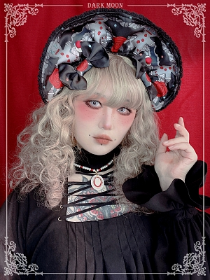 Coal Cake Christmas Lolita Bonnet by Darkmoon