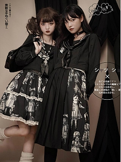 Paper Dolls Gothic Long Pleated Skirt by Dolls Party