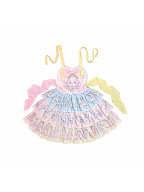 Rainbow Circus Sweet Lolita Overall Dress JSK by Dolls Party