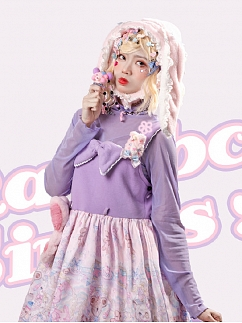 Rainbow Circus Sweet Lolita KC / Hat by Dolls Party