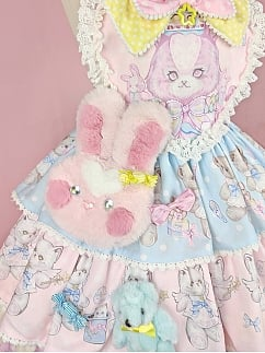 Rainbow Circus Sweet Lolita Bunny Bag / Brooch Set by Dolls Party