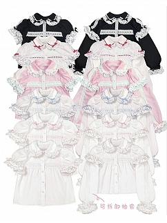 Lollipop Sweet Lolita Detachable Long Sleeves Shirt by Dolls Party