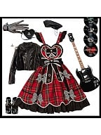 Rock Sweetie Lolita Overall Dress by Drunk Coco