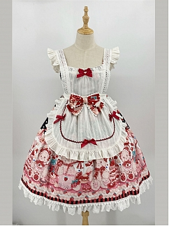 Strawberry Bear's Doll Sweet Lolita Apron by Doll's Heart