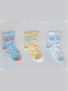 Teddy Music Box Series Lolita Socks by Dark Star Island