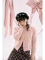 Sweet Peals Buttons Delicated Bowknots Decorated Placket Cardigan by Day to Day