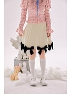 Sweet Skirt with Knitted Bowknots Trimming by Day to Day