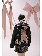 Pastel Goth Two Sides Wear Quilted Jacket by Day to Day