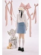 Pastel Goth A Line Quilted Skirt by Day to Day