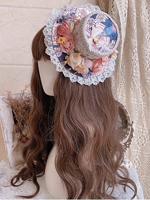 Banquet in the Mirror Lolita Dress Matching Bonnet / Hat / Back Bowknot by Eternity Spring