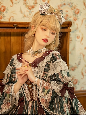 Banquet in the Mirror Lolita Dress Matching KC / Choker / Hairband / Overlayer by Eternity Spring