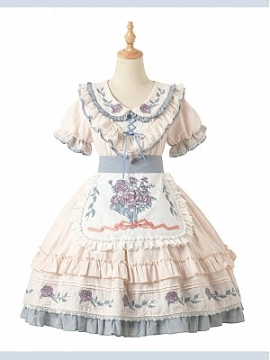 Hyaline Country Lolita Dress Matching Apron by Eve's Tea Party Lolita