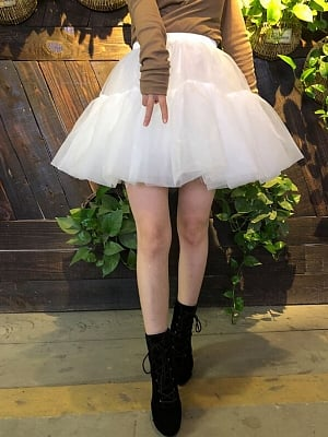 White 40cm Petticoat by Flower Field Happy Event