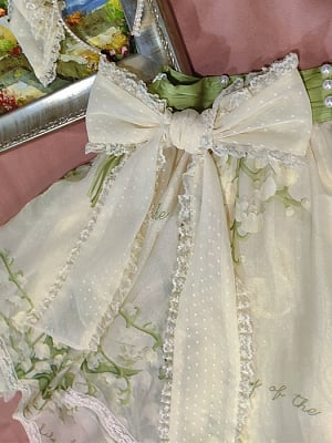 Lily of the Valley Lolita Dress Matching Waist Bowknot by Flower and Pearl Box