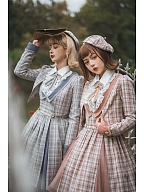 British Style Plaid Lolita Set Shirt by Fantastic Wind