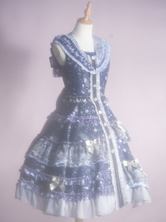 Looking at the Stars Elegant Lolita Idol Dress JSK Set by Fantastic Wind