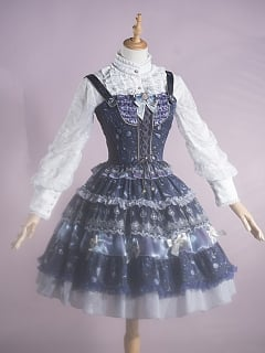 Looking at the Stars Elegant Lolita Skirt / Vest Set by Fantastic Wind