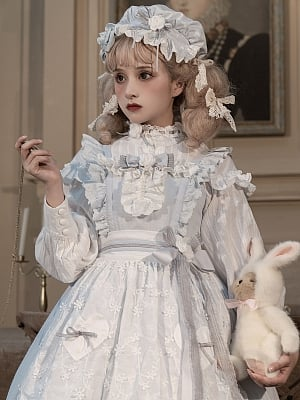Flower and Alice Sweet Lolita Dress Matching Bonnet by Gloaming