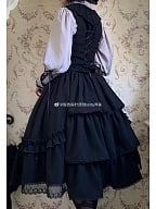 Bloody Countess Gothic Lolita Shirt / Vest by Ginkgo Pointer