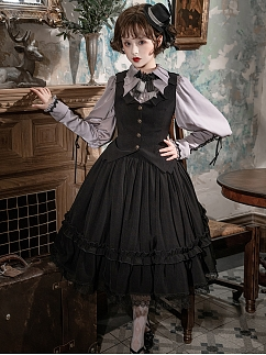 Bloody Countess Gothic Lolita Skirt by Ginkgo Pointer