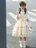 Little Lover Yellow Retro Doll Lolita Dress JSK Full Set by Garden of The Gods