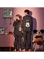 Disney Authorized Minnie&Mickey Couple Cartoon Pajamas Set by Gukoo