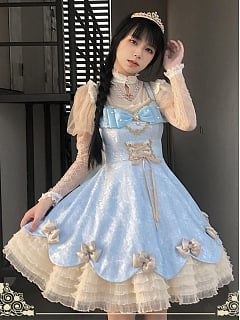 Meow Box Elegant Lolita Dress JSK by Himesama Holiday