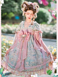 Hidden Flower Elegant Han Lolita Dress OP by Himesama Holiday