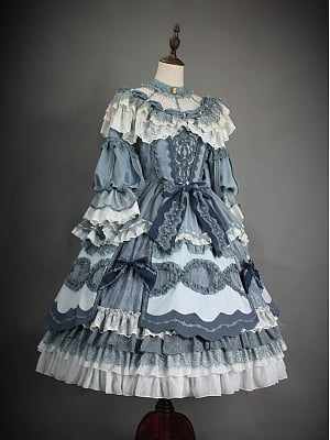 Custom Size Available Luna Qianyu Tea Party Lolita Dress OP SP by Hinana Queen