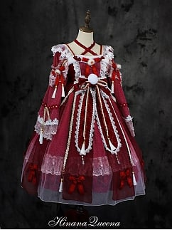 Custom Size Available Gorgeous Fox Spirit Lolita Dress OP Full Set by Hinana Queen
