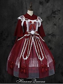 Custom Size Available Gorgeous Fox Spirit Lolita Dress JSK Full Set by Hinana Queen
