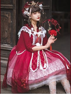 Custom Size Available Gorgeous Fox Spirit Lolita Dress JSK by Hinana Queen