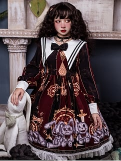 Broken Bunny Doll Gothic Lolita Dress OP by Semi Sweet