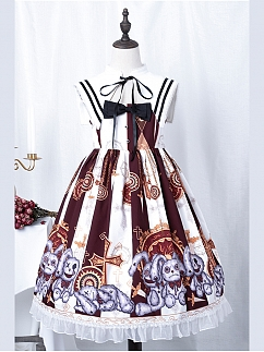 Broken Bunny Doll Gothic Lolita Dress JSK by Semi Sweet