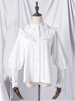 Elegant Leg-of-mutton Sleeves Lolita Shirt by Semi Sweet