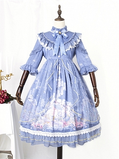 Mermaid Carol Elegant Lolita Dress OP by Semi Sweet