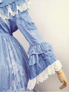 Mermaid Carol Elegant Lolita Dress Extend Sleeves by Semi Sweet