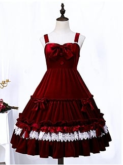 Little Landing Elegant Velvet Lolita Dress JSK by Semi Sweet