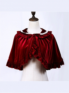 Little Landing Elegant Velvet Lolita Cape by Semi Sweet