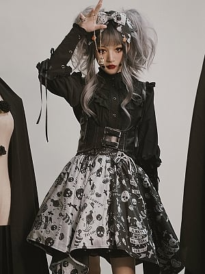 Piercing Halloween Gothic Lolita Skirt by Semi Sweet
