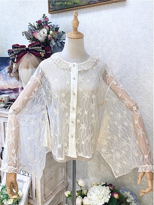 Lantau Camellia Wa Lolita Lace Shirt by Semi Sweet
